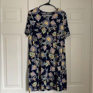 LOFT swing dress in paisley